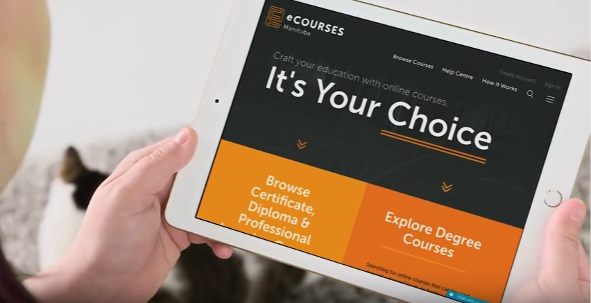 Find courses online using eCourses MB.