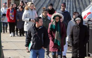 Students march together in retaliation to ESL cuts