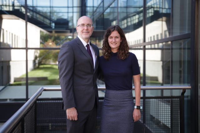 Dr. Rachel Herron, the centre's founding chair, and Dean of Health Studies, Dr. John Moraros